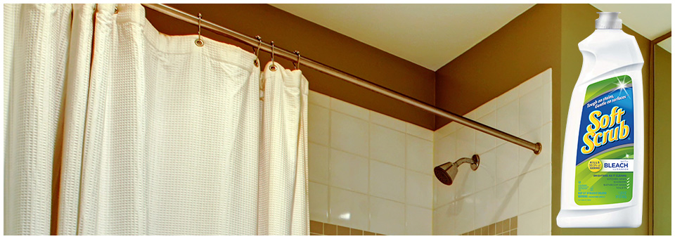 Curtains Ideas cleaning shower curtain : Soft Scrub – The Vinyl Surface Cleaner for Vinyl Shower Curtains ...